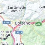 Map for location: Bolzano, Italy