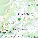 Map for location: Hub, Switzerland