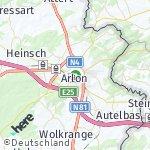 Map for location: Arlon, Belgium