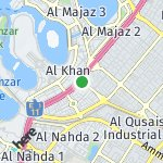 Map for location: Industrial Area 7, United Arab Emirates