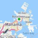 Map for location: Muharraq, Bahrain