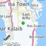 Map for location: Al Mazrooeeah, Bahrain