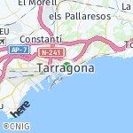 Map for location: Tarragona, Spain