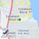 Map for location: Fahaheel-Block 6, Kuwait