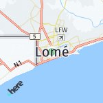 Map for location: Lomé, Togo