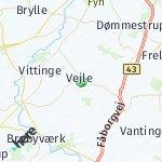 Map for location: Vejle, Denmark