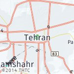 Map for location: Tehran, Iran