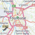 Map for location: Toulouse, France