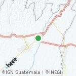 Map for location: San Sebastián, Guatemala