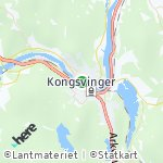 Map for location: Kongsvinger, Norway