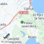 Map for location: Pau, Spain