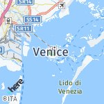 Map for location: Venice, Italy