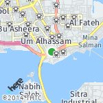 Map for location: Um Alhassam, Bahrain
