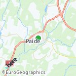 Map for location: Paide, Estonia