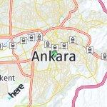 Map for location: Ankara, Turkey