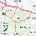 Map for location: Pau, France