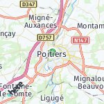 Map for location: Poitiers, France
