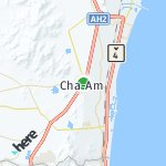 Map for location: Cha-Am, Thailand