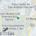 Map for location: Nuevo Amanecer 1, Mexico