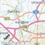 Map for location: Karlsfeld, Germany