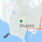 Map for location: Durres, Albania