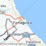 Map for location: Famagusta, Turkish-Cypriot Administered Area