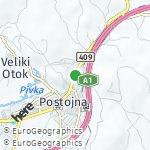 Map for location: Postojna, Slovenia