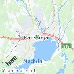 Map for location: Karlskoga, Sweden