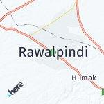 Map for location: Rawalpindi, Pakistan