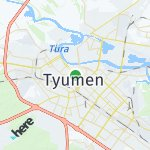 Map for location: Tyumen, Russia