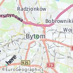 Map for location: Bytom, Poland