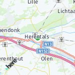 Map for location: Herentals, Belgium