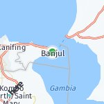 Map for location: Banjul, Gambia