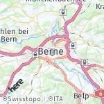 Map for location: Berne, Switzerland