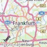 Map for location: Frankfurt, Germany
