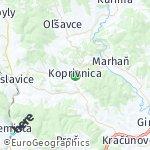 Map for location: Koprivnica, Slovakia