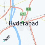 Map for location: Hyderabad, Pakistan