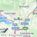 Map for location: Varese, Italy