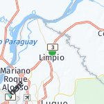 Map for location: Limpio, Paraguay