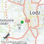 Map for location: Lodz, Poland