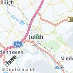 Map for location: Jülich, Germany