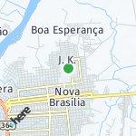Map for location: J.K., Brazil