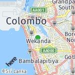 Map for location: Wekanda, Sri Lanka