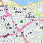 Map for location: Salmiya-Block 12, Kuwait