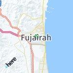 Map for location: Fujairah, United Arab Emirates
