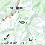 Map for location: Sankt Stephan, Switzerland