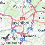 Map for location: Luxembourg, Luxembourg