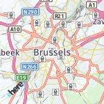 Map for location: Brussels, Belgium