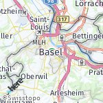 Map for location: Basel, Switzerland