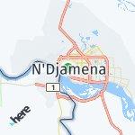 Map for location: N'Djamena, Chad